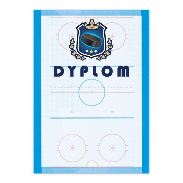Dyplom A4 z nadrukiem na turniej hokeja na lodzie