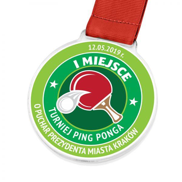 Medal z indywidualnym nadrukiem na turniej Ping-Ponga