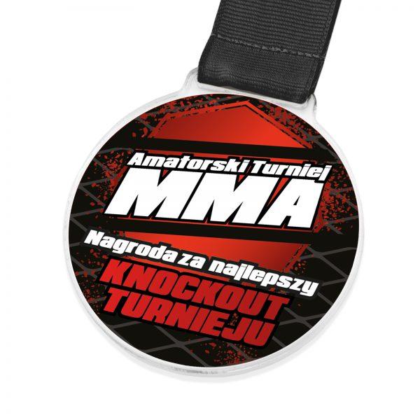 Okolicznościowy medal z pleksi na amatorski turniej MMA