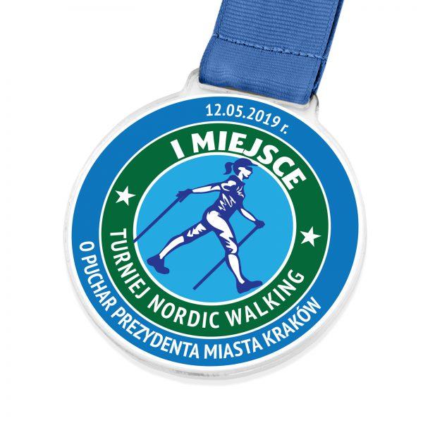 Medal z nadrukiem na turniej Nordic Walking