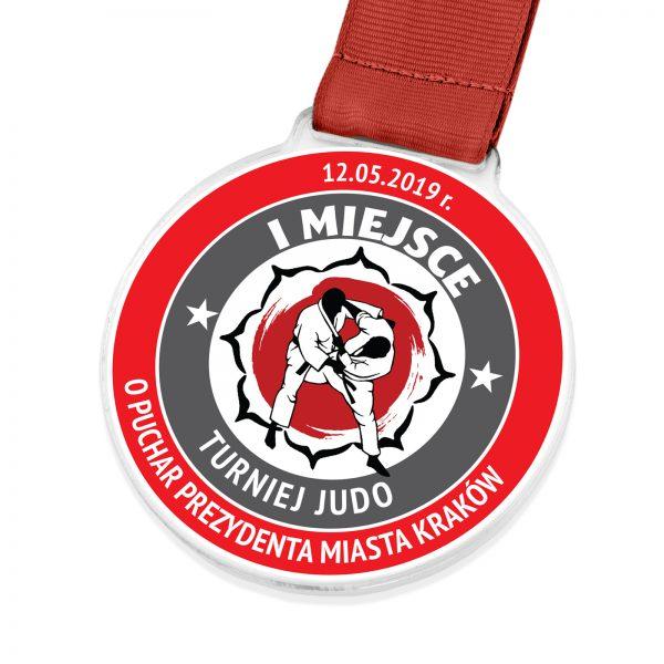 Medal z indywidualnym nadrukiem na turniej Judo