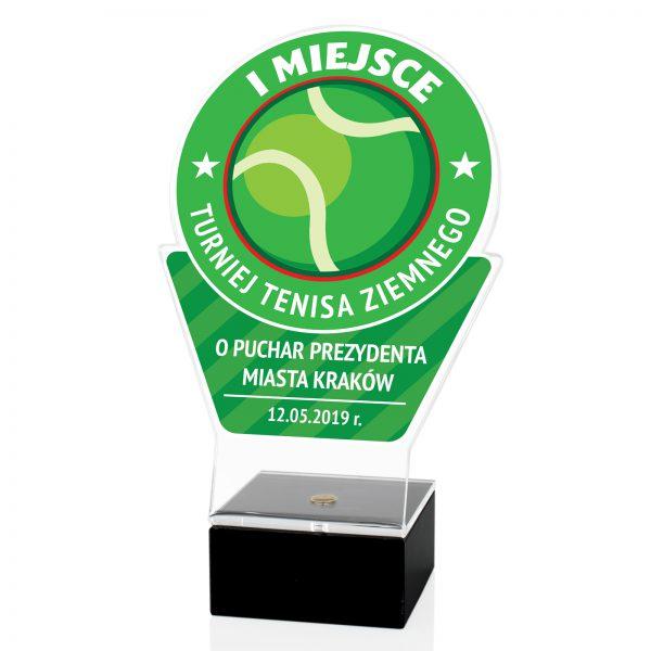 Statuetka z nadrukiem na turniej tenisa ziemnego