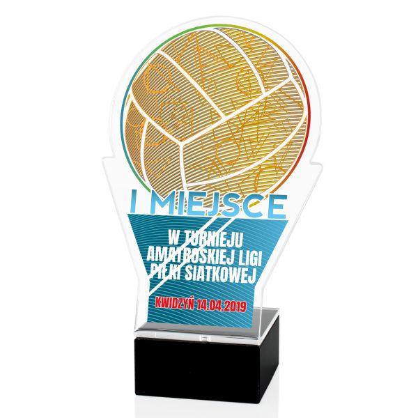 Statuetka z pleksi na turniej amatorskiej ligi piłki siatkowej