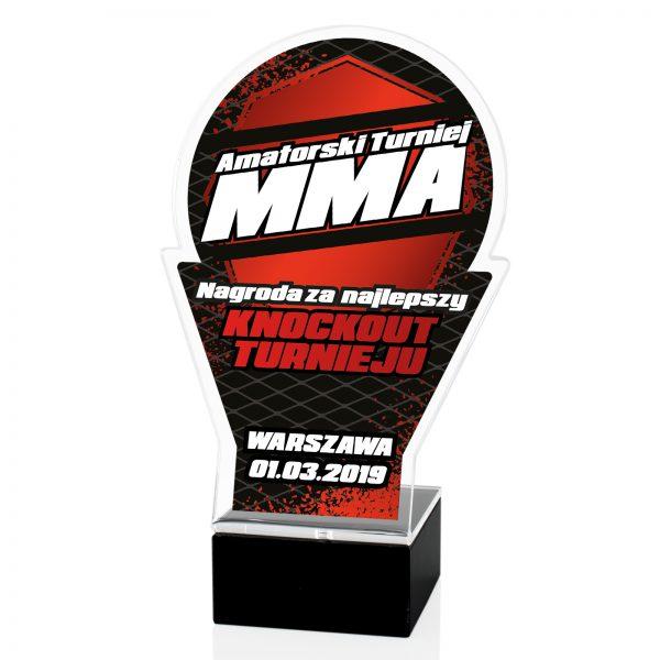Statuetka z pleksi na postumencie na amatorski turniej MMA
