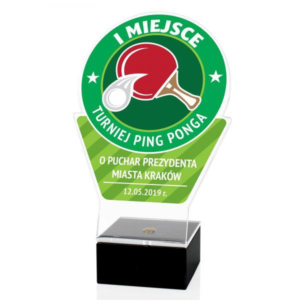 Sportowa statuetka z nadrukiem na turniej Ping-Ponga