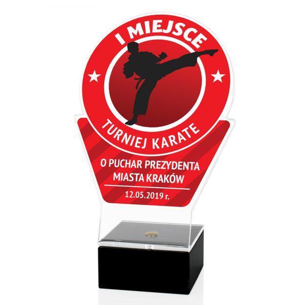 Statuetka sportowa z nadrukiem na turniej Karate