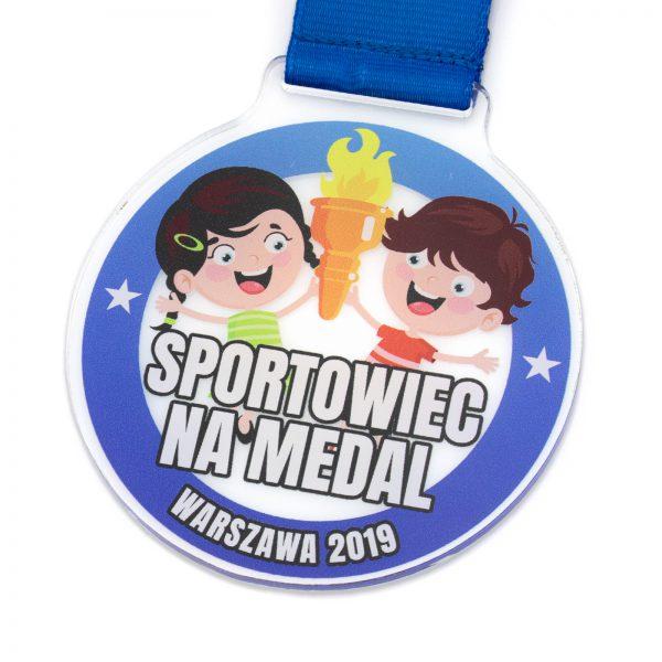 Medal sportowy z pleksi dla dzieci na zawody sportowe