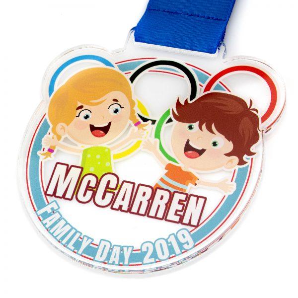 Medal z indywidualnym nadrukiem dla dziecka na zawody sportowe