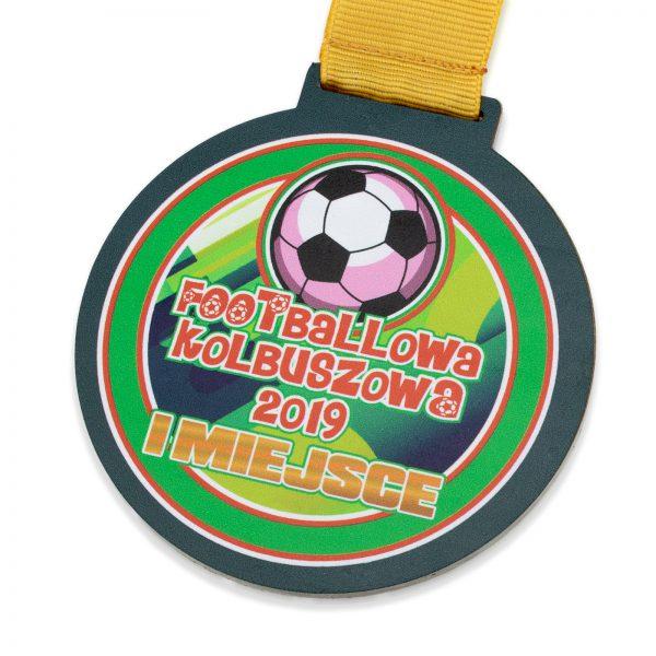Metalowy medal z nadrukiem na turniej piłkarski dla dzieci