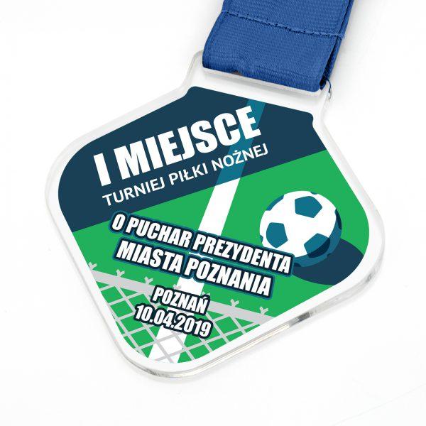 Medal sportowy z nadrukiem na turniej Piłki Nożnej