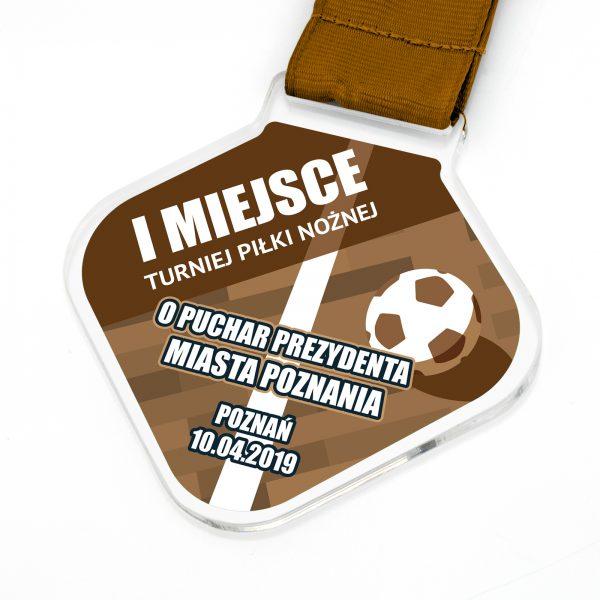 Medal z indywidualnym nadrukiem na turniej Halowej Piłki Nożnej