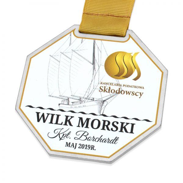 Metalowy medal z indywidualnym kolorowym nadrukiem