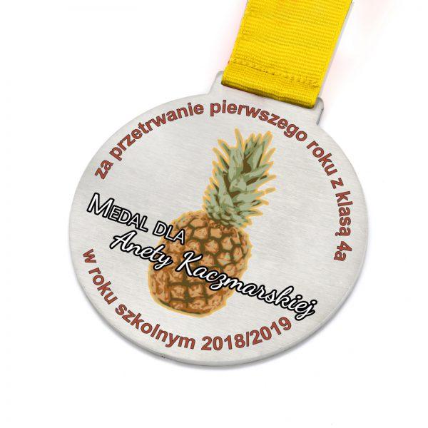 Metalowy medal z nadrukiem na podziękowanie dla Nauczyciela