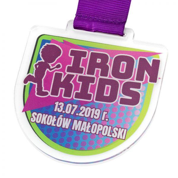 Medal sportowy dla dzieci na Zawody Biegowe Iron Kids