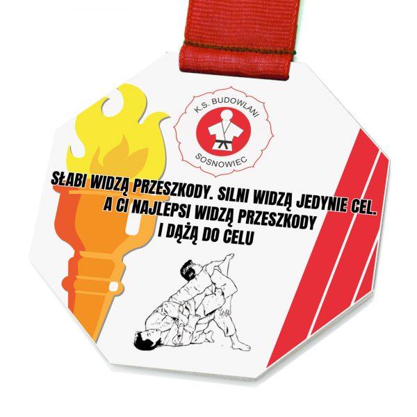 Metalowy medal sportowy na zawody w Judo