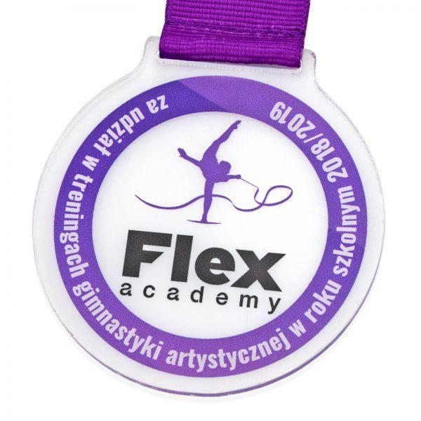 Medal z pleksi za udział w Treningach Gimnastyki Artystycznej dla szkół