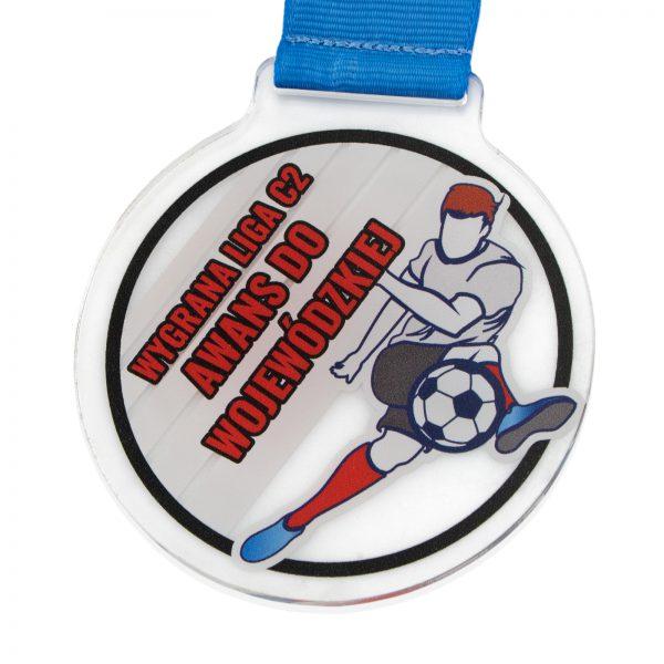 Medal z pleksi z kolorowym nadrukiem za awans do Ligi Wojewódzkiej