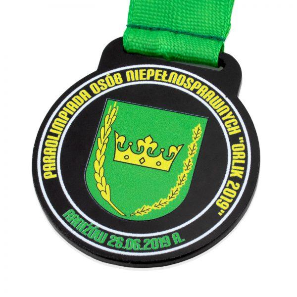 Medal z czarnej pleksi na Paraolimpiadę Osób Niepełnosprawnych