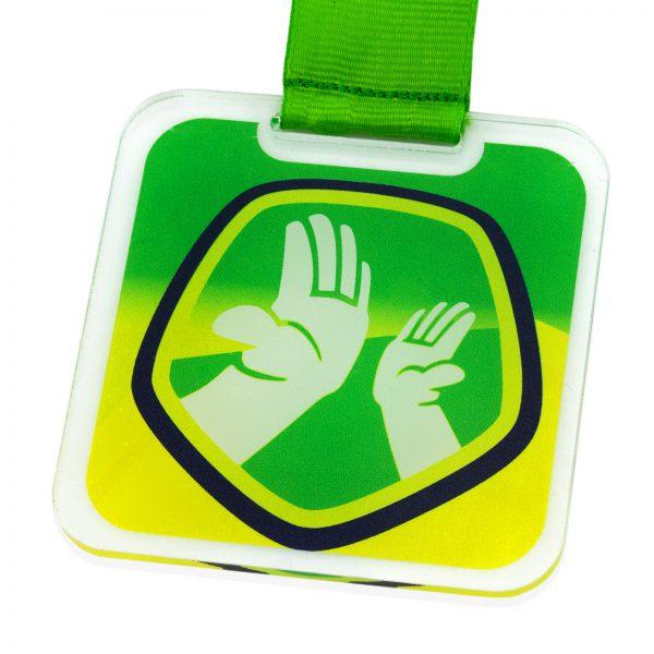 Okolicznościowy Medal z pleksi z nadrukiem grafiki lub tekstu dla dzieci