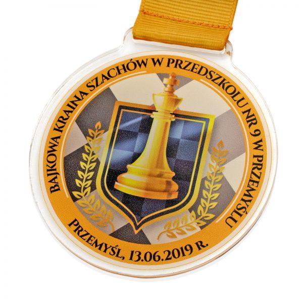 Medal z pleksi na Turniej Szachowy dla Przedszkolaków