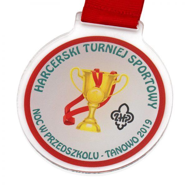 Medal z pleksi dla dzieci na Harcerski Turniej Sportowy