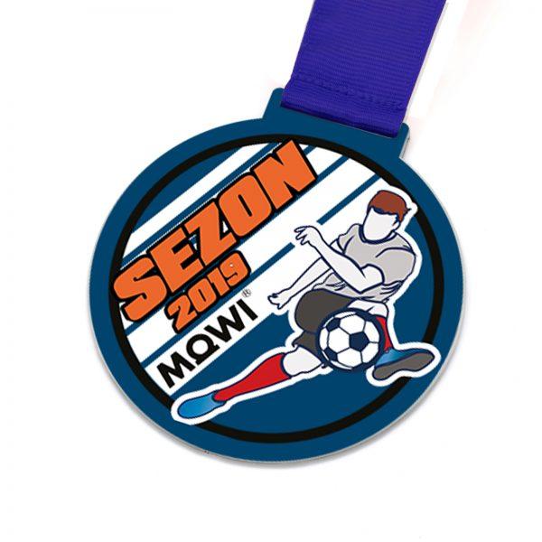 Metalowy medal sportowy na Turniej Piłki Nożnej