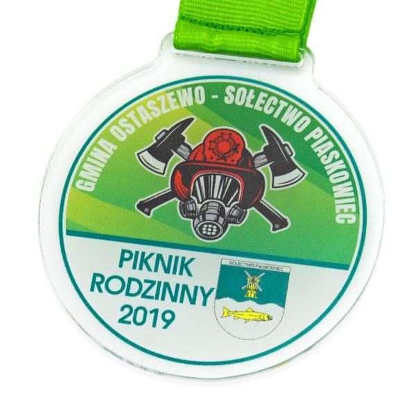 Okolicznościowy medal z pleksi na Piknik Rodzinny