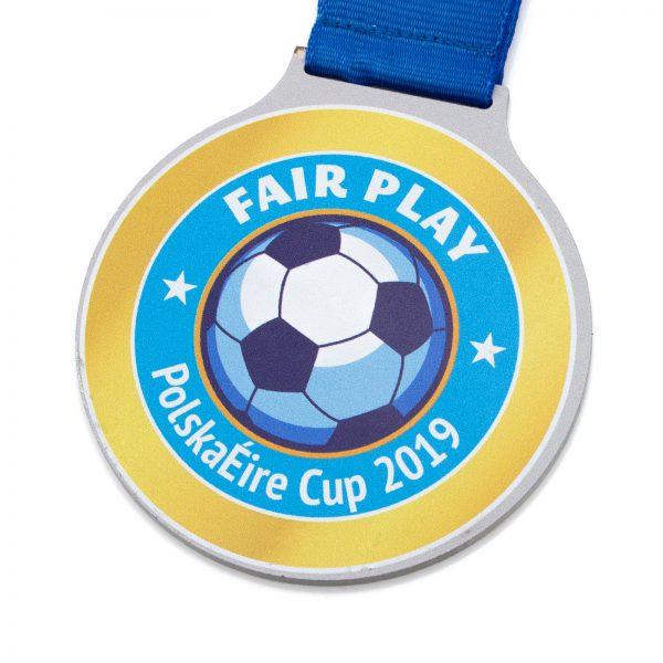 Sportowy medal z metalu na Zawody w Piłkę Nożną