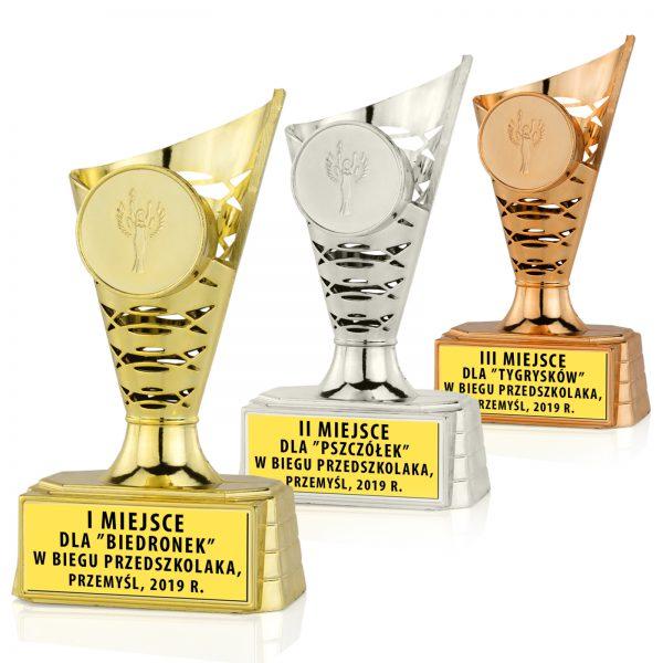 Zestaw Pucharów dla dzieci na Zawody Biegowe Przedszkolaków