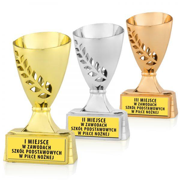 Zestaw Pucharów sportowych dla dzieci na Zawody Biegowe
