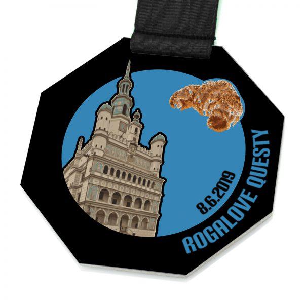 Medal okolicznościowy z nadrukiem Rogalove Questy