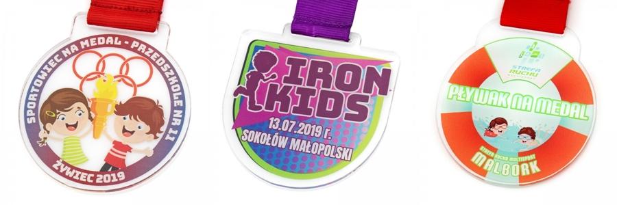 medale dla przedszkolaków z nadrukiem