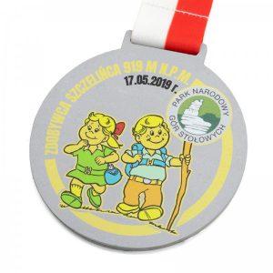 medal z metalu dla dzieci z nadrukiem