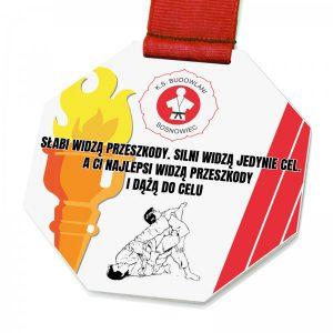 medal metalowy na zawody judo