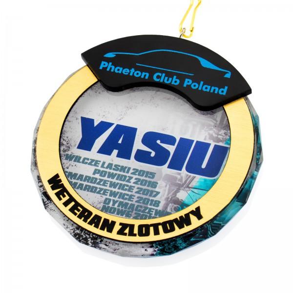 Medal szklany 3D dla Weterana Zlotów Samochodowych