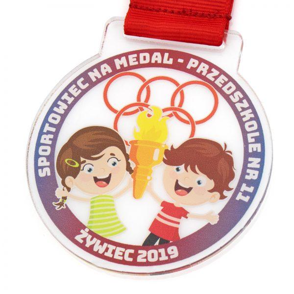 Medal z pleksi dla dzieci z nadrukiem Sportowiec na Medal