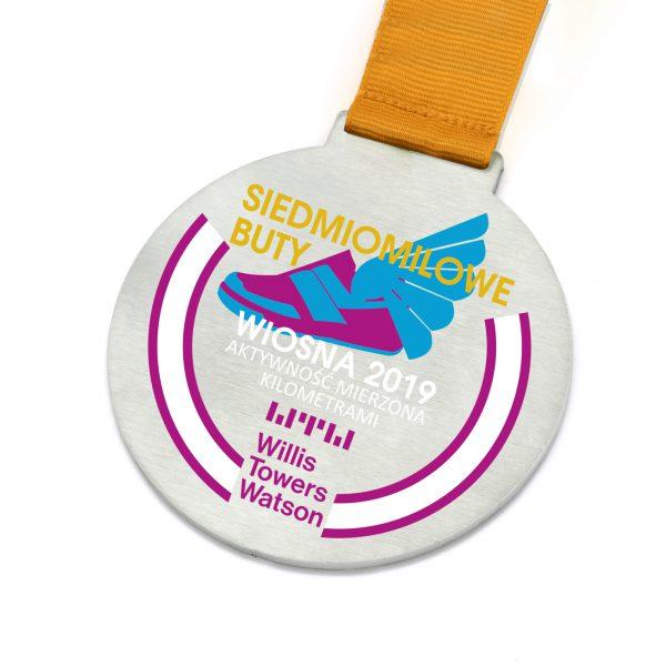 Medal metalowy z nadrukiem Aktywność Mierzona Kilometrami