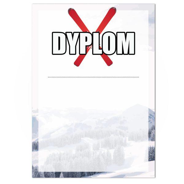 Dyplom sportowy jednostronny z drukiem dla narciarzy (20 sztuk)