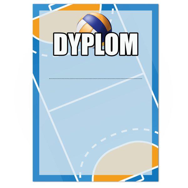 Dyplom sportowy papierowy na turniej piłki ręcznej (20 sztuk)
