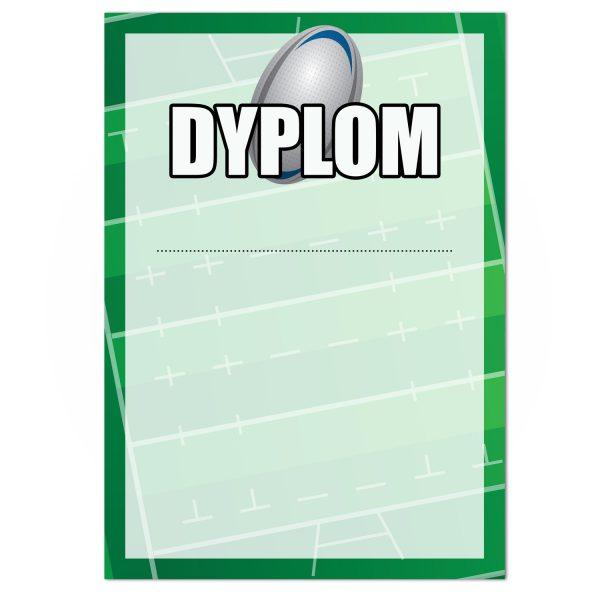 Dyplom sportowy jednostronny na turniej rugby (20 sztuk)