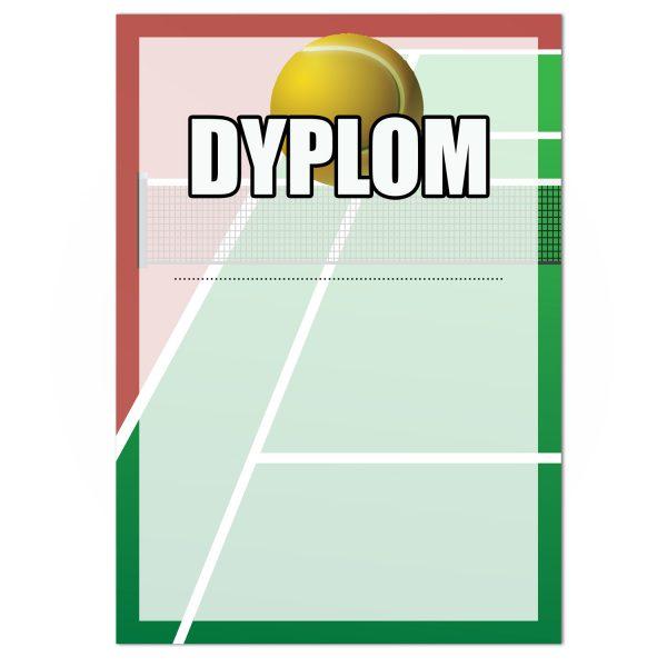 Dyplom papierowy na turniej tenisa ziemnego z drukiem (20 sztuk)