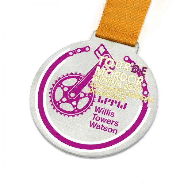 Medal okrągły metalowy z nadrukiem Tour De Mordor