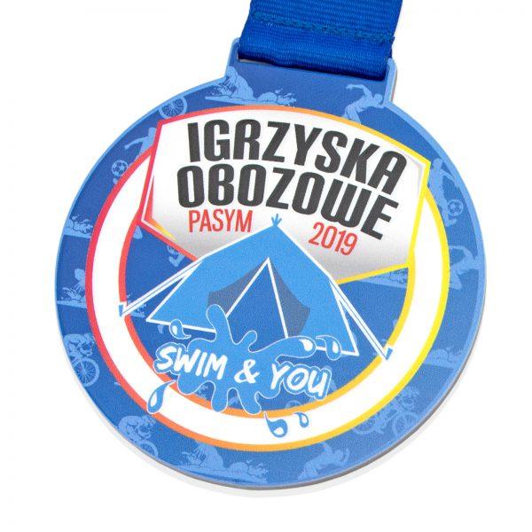 Medal metalowy dla dzieci na Igrzyska Obozowe
