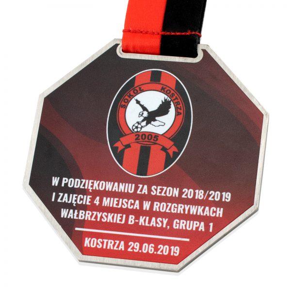 Medal metalowy ośmiokątny Podziękowania za Sezon
