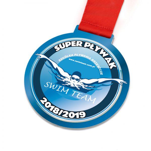 Medal pływacki metalowy Swim Team