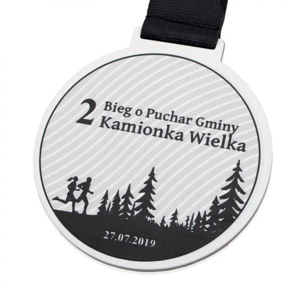 Medal biegowy z metalu z nadrukiem