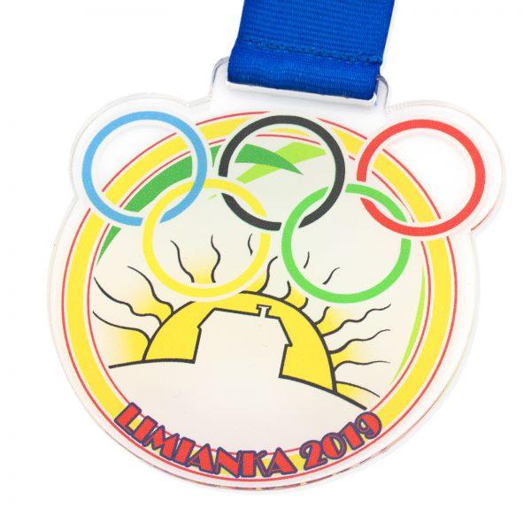 Medal z nadrukiem z plexi na Mini Olimpiadę
