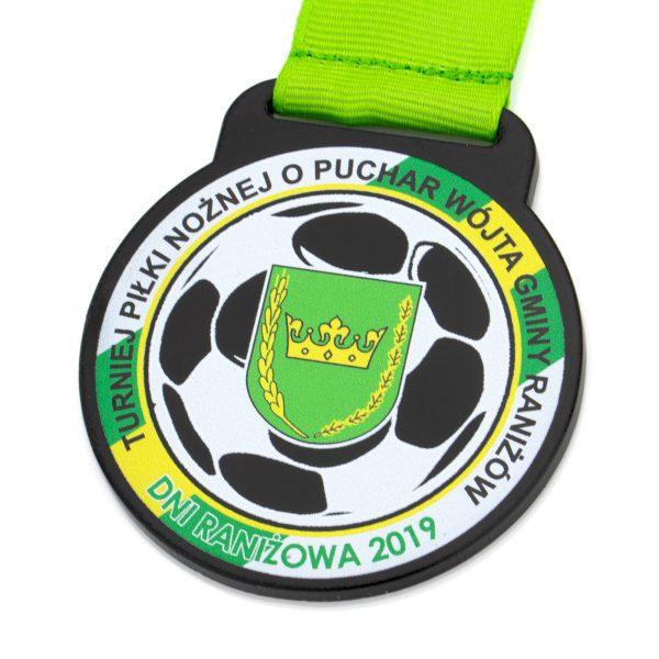 Medal z pleksi z nadrukiem na Turniej Piłki Nożnej
