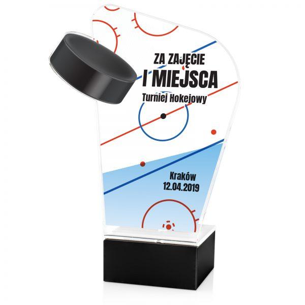 Statuetka na zamówienie na postumencie na turniej hokejowy
