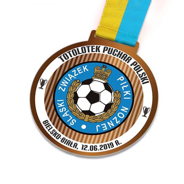 Medal metalowy na zawody piłkarskie Puchar Polski